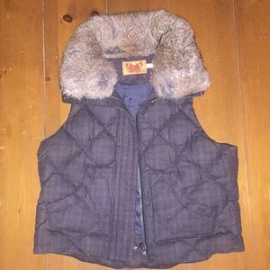 Juicy Couture Faux Fur-Collared Vest